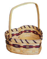 Wicker Basket -  Heart Shaped Basket