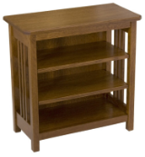 Mission Bookcase / End Table, w/  (2-adjustable shelves)