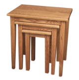 Nesting Tables Set (3)  / Shaker Leg