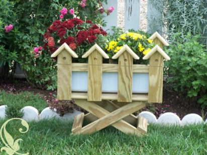 Picket Fence Planters