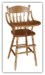 Child's Highchair, Post Plain
