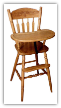 Child's Highchair, Acorn