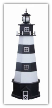 Cape Canaveral Garden Lighthouse - Black