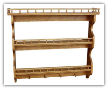 Wooden Shelf 3-tier,w/Pegs