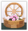Wooden Wagon Wheel Planter