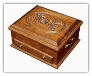 Silverware Chest w/Lid Carvings