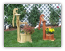 Wooden Pump w/ Bucket Planter