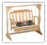 Wooden Swing Planter