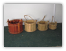 Wooden Bucket Planters/Wishing Well
