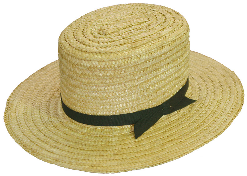 676079ea Amish Straw Hat / Amish Handcrafted - Amish Furniture Crafts